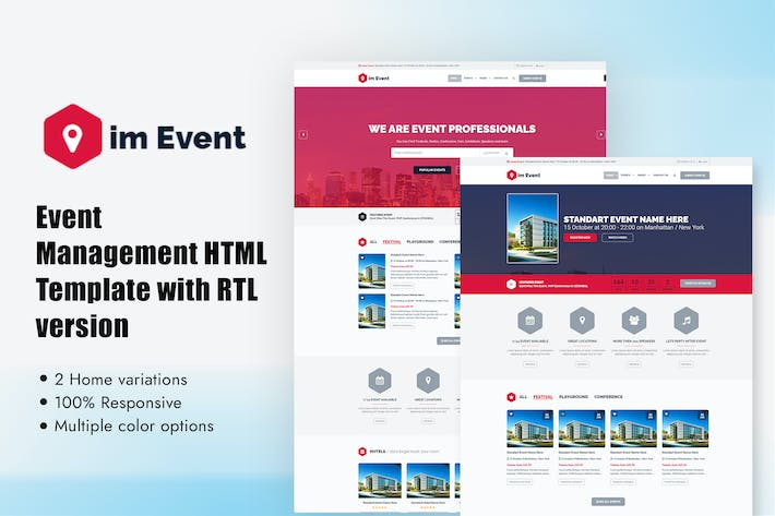 Thumbnail for Event Management HTML Template with RTL version