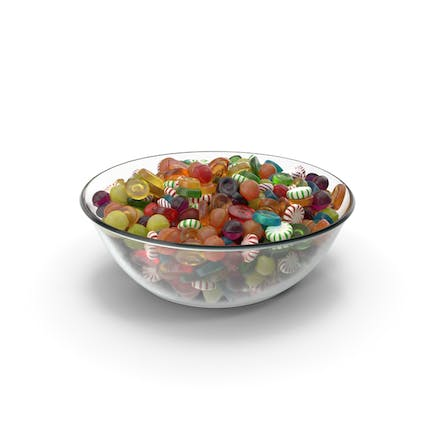 Bowl with Mixed Hard Candy