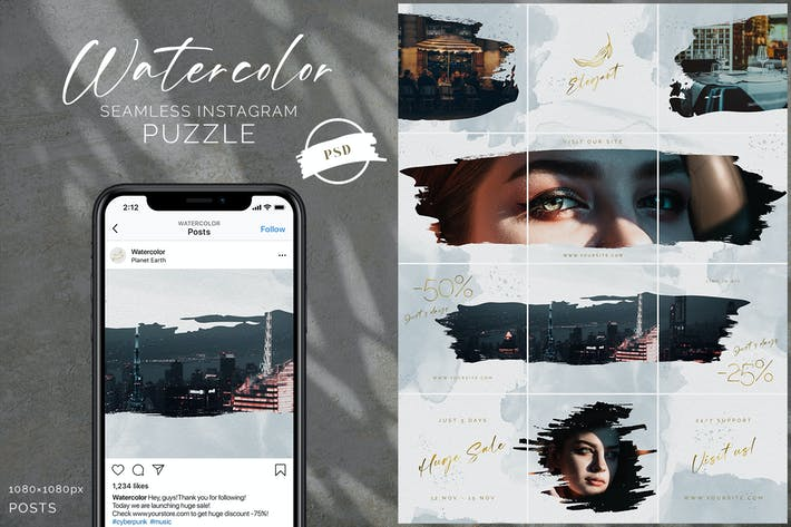 Thumbnail for Aquarell Instagram Puzzle