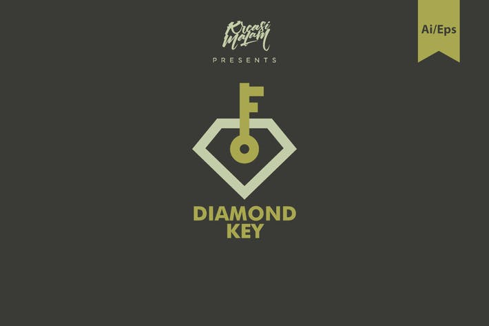 Diamond Key Logo Template