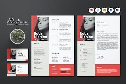 Creative CV Resume & Name Card PSD, DOCX, AI No.8