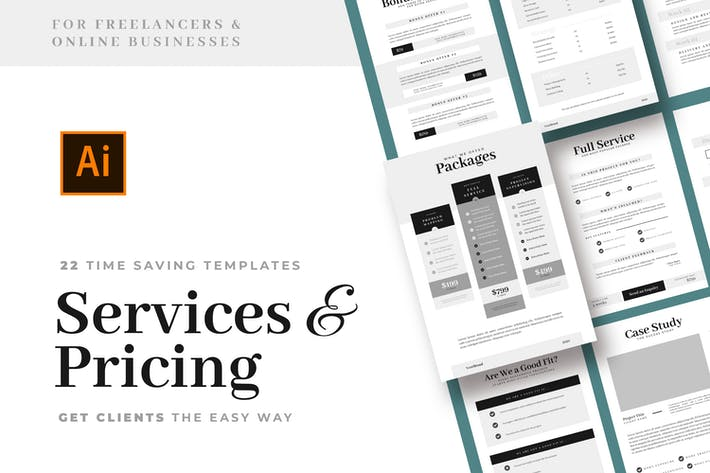 Thumbnail for Services & Pricing Guide Templates