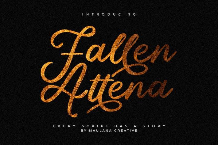 Thumbnail for Fallen Attena - Brush Font