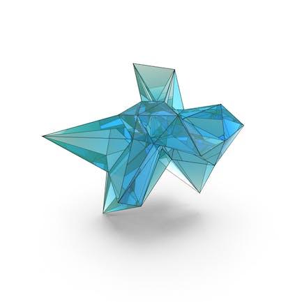 Forma decorativa de cristal abstracto LowPoly