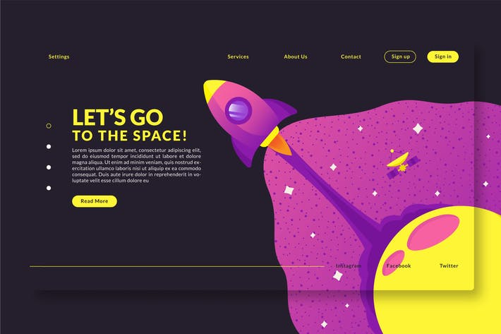 Thumbnail for Go to the Space - Landing Page GR