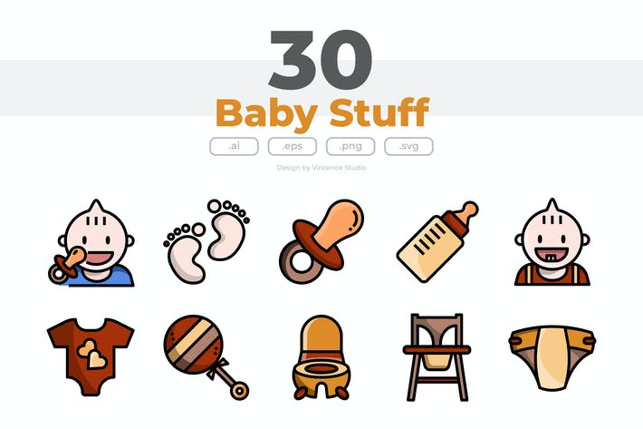 Thumbnail for 30 Baby Stuff Icons