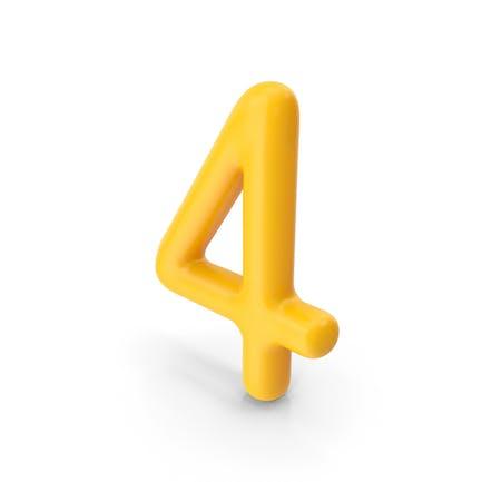Number 4 Orange