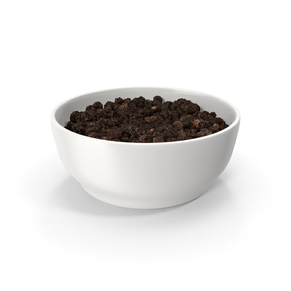 Cover Image for Bowl of Black Peppercorns