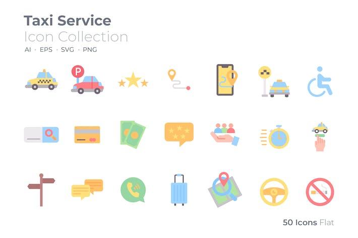 Taxi Service Color Icon