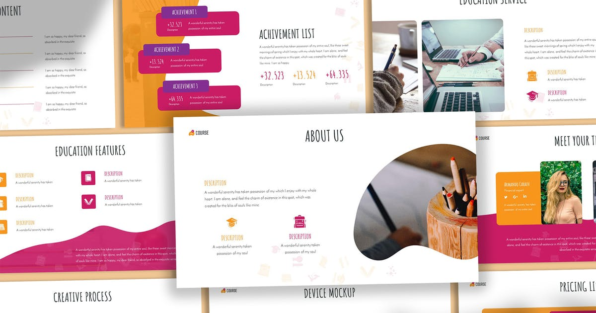 Download NextCourse - Education Keynote Template by SlideFactory