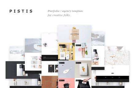 Pistis - Creative Portfolio / Agency HTML Template