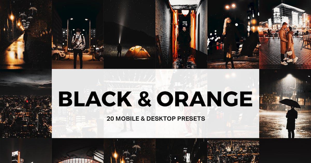 Download 20 Black & Orange Lightroom Presets and LUTs by sparklestock