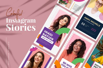 Colorful Instagram Stories Template