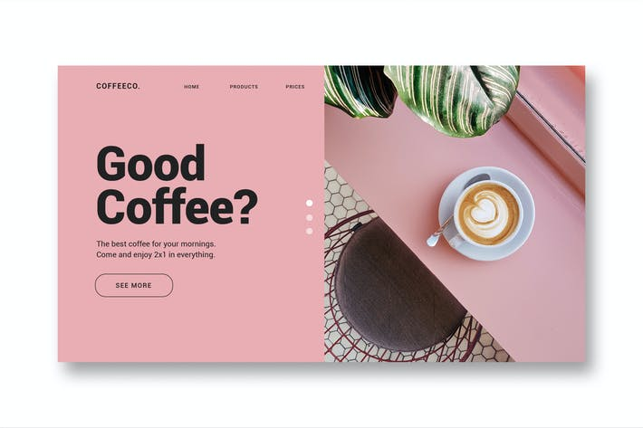 Thumbnail for Coffee Shop - Landing Page