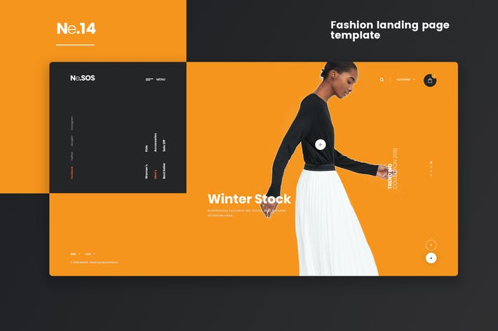 Thumbnail for Ne14 - Fashion landing page template