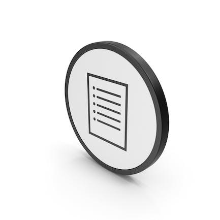 Icon Papier Hinweis