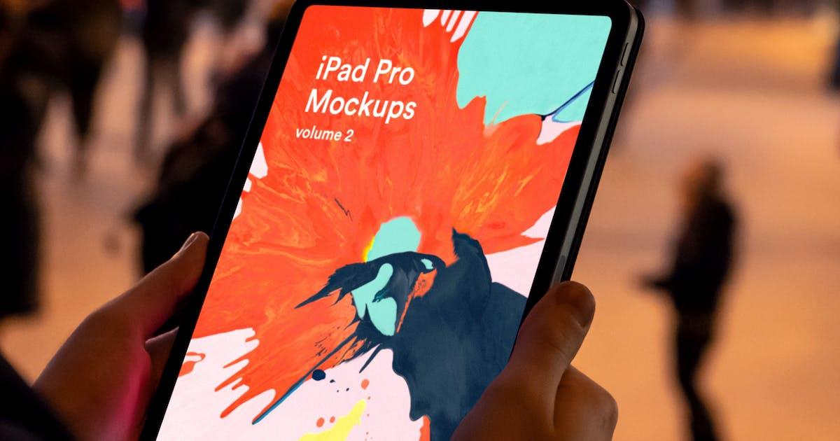 Download New iPad Pro (2018) Black Mockup v2 by itscroma