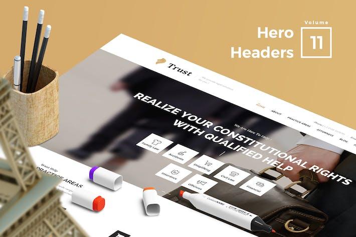 Thumbnail for Hero Headers for Web Vol 11