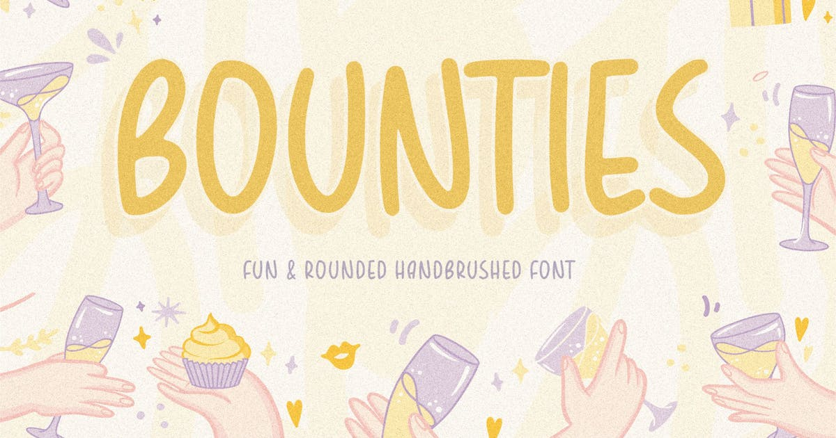 Download Bounties Display Font YH by GranzCreative