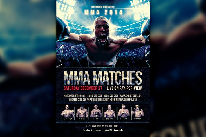MMA / Boxing Fight Flyer Template by HyperPix on Envato Elements