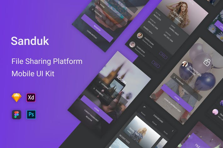 Thumbnail for Sanduk - File Sharing Platform UI Kit