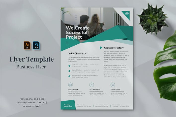 Thumbnail for Business Flyer Template 19