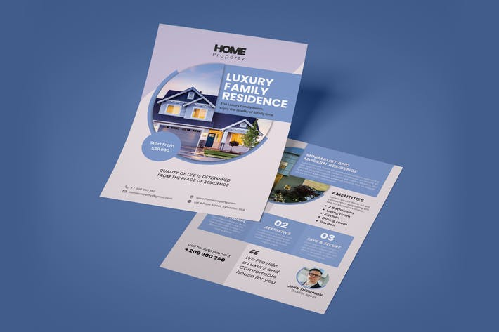 Residential Double side Flyer Template