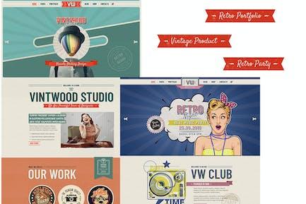VintWood - Vintage, Retro WordPress Theme