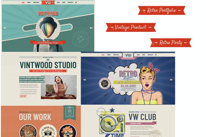Thumbnail for VintWood - Vintage, Retro WordPress Theme