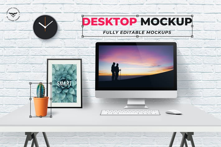 Thumbnail for Desktop Mockups Template