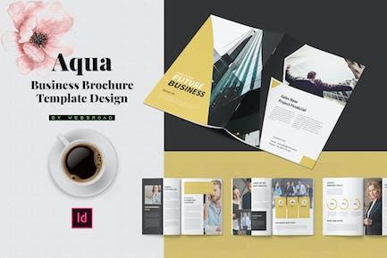 Aqua | Conception de modèle de brochure d'affaires