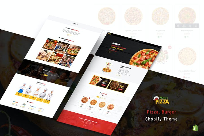 Thumbnail for Marios Pizza | Pizza, Burger Restaurant Shopify