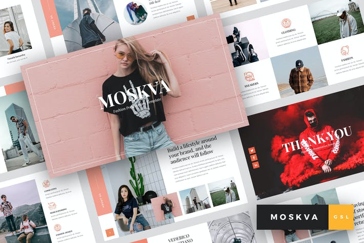 Thumbnail for Moskva - Fashion Google Slides Template