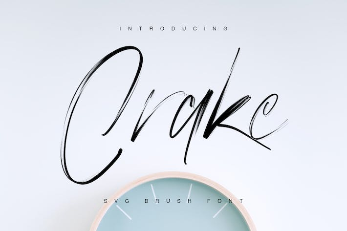 Cover Image For Crake - Brush SVG Font