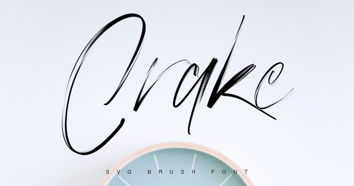 Crake - Brush SVG Font by maulanacreative