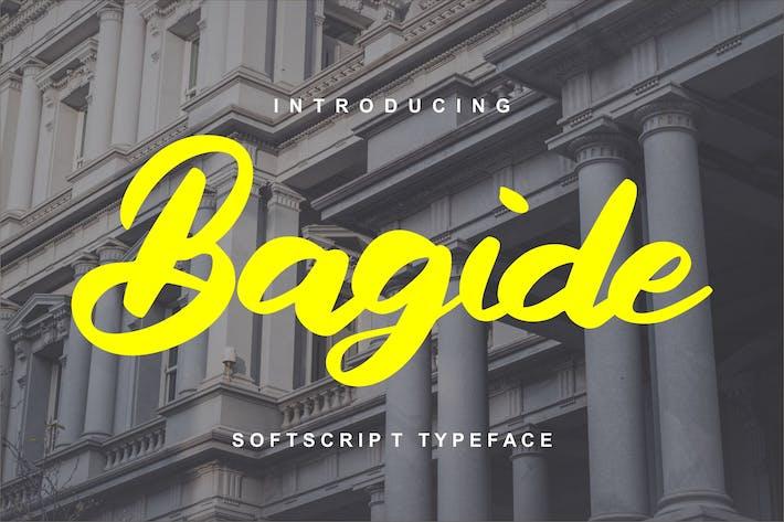 Thumbnail for Bagide | Softscript Typeface
