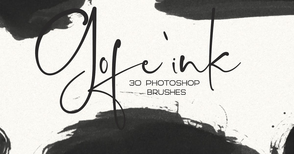 Download 30 Gofe Ink Photoshop Brushes by sameehmedia