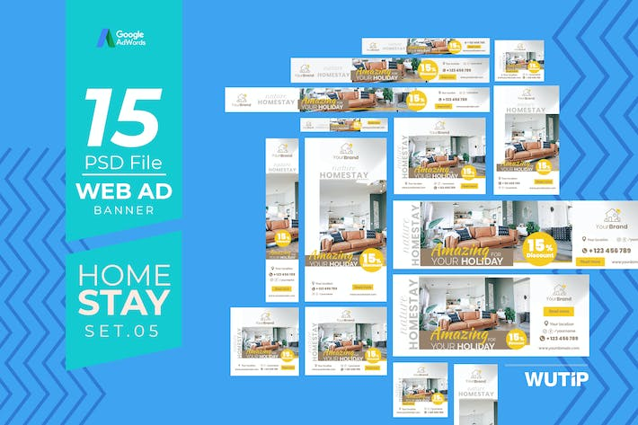 Thumbnail for Web Ad Banners - Homestay 05
