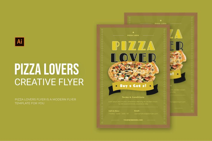 Pizza Lovers - Flyer