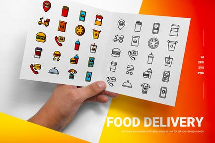 Food Deliver - Icons