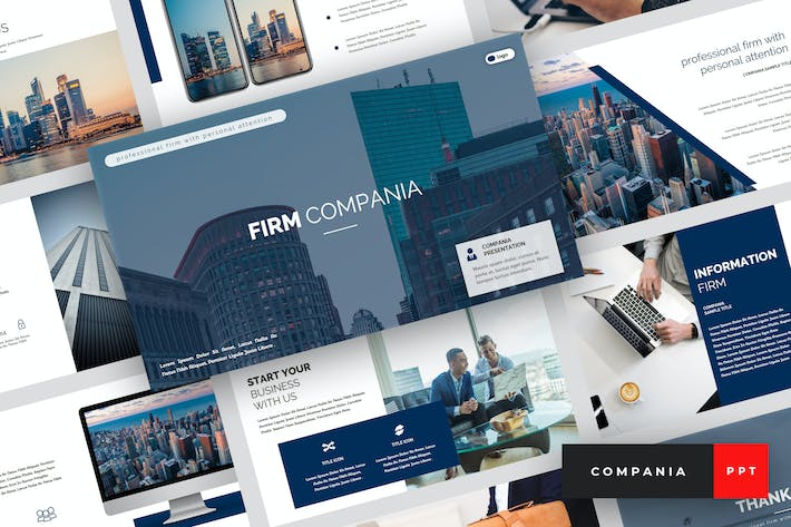 Thumbnail for Compania - Firm PowerPoint Template