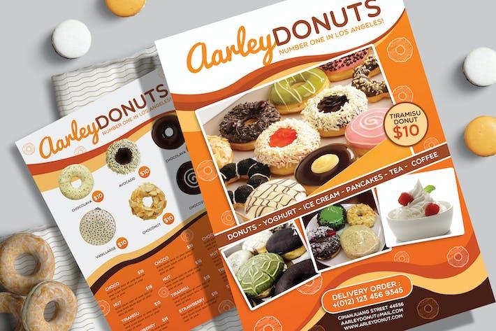 Thumbnail for dépliant Menu Donuts
