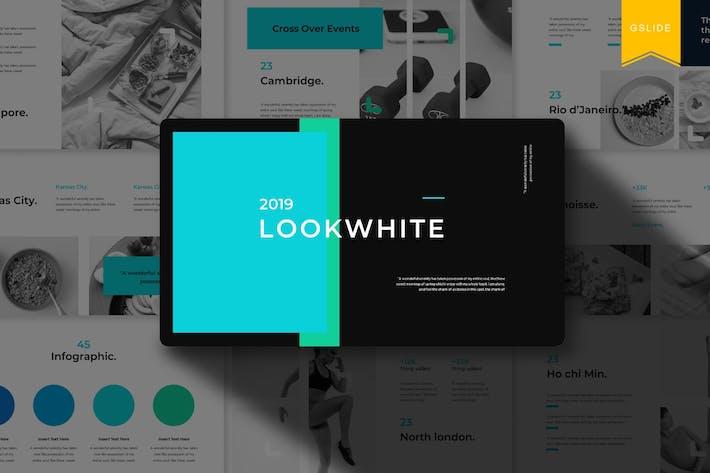 Lookwhite | Шаблон слайдов Google