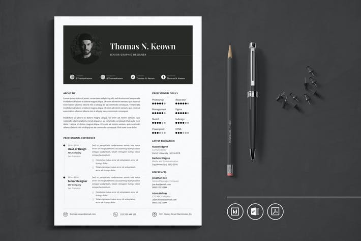 Thumbnail for Indesign CV Resume Vol.35
