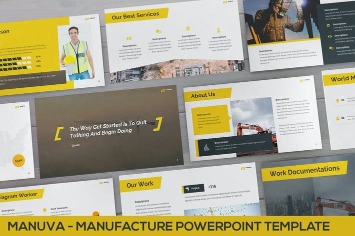 Thumbnail for Manuva - Manufacture Powerpoint Template