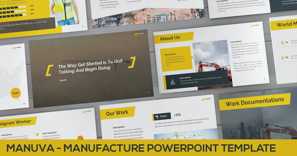 Download Manuva - Manufacture Powerpoint Template by SlideFactory