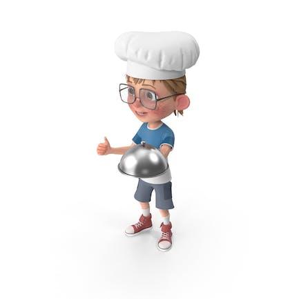 Cartoon Junge Harry Chef