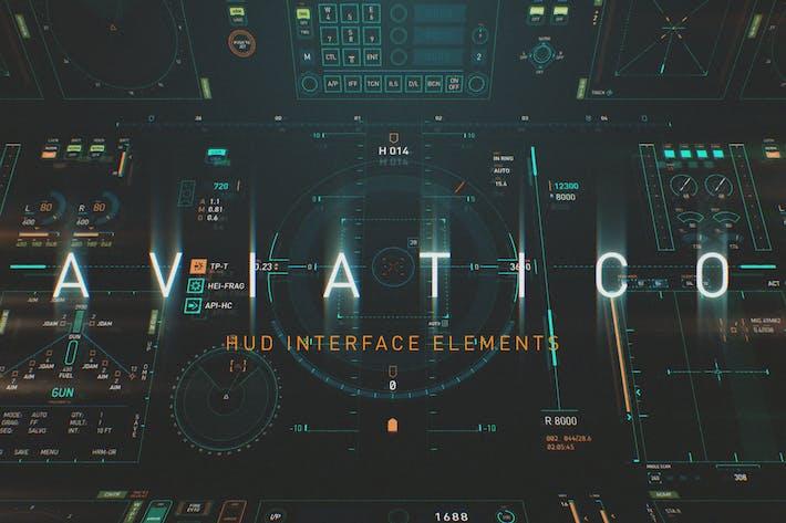 Thumbnail for AVIATICO - HUD Futuristic UI elements pack