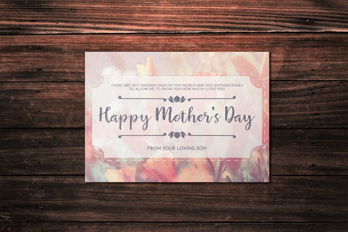 Thumbnail for Mother's Day Card Template