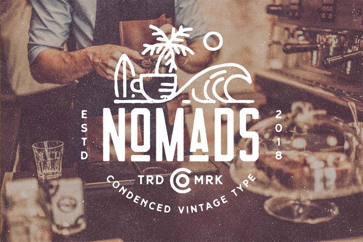 Thumbnail for Nomads - The Farmer Original Typeface